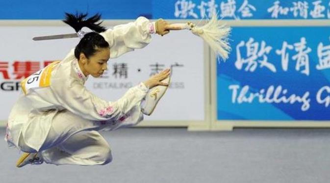 Lindswell Kwok atlet wushu indonesia