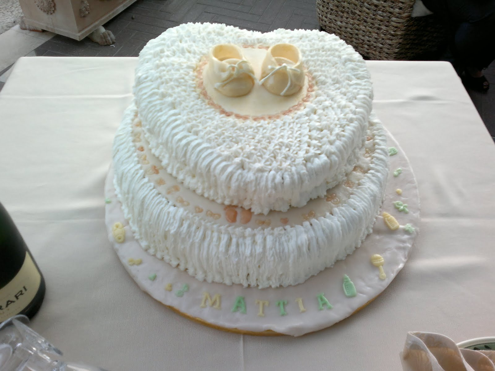 Favoloso Il mondo di Agata: Torta Battesimo in pasta di zucchero QV67
