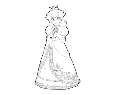 #12 Princess Peach Coloring Page