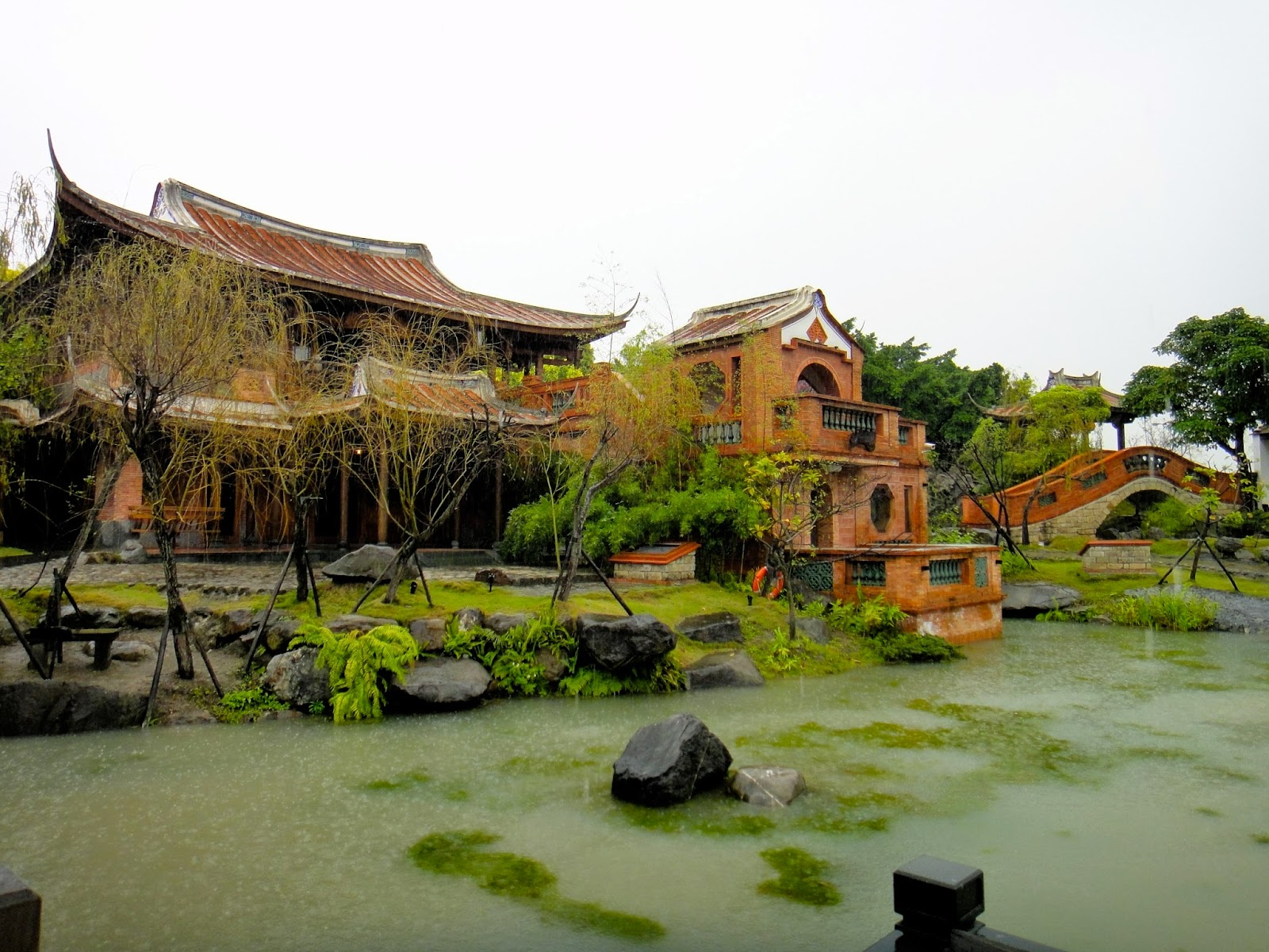 Pond inside Lin An Tai Ancestral House and Museum Yuanshan