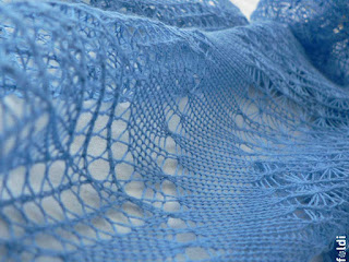 passap machine knitted lace scarf stole free pattern