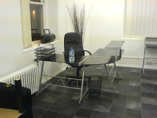 Very Smart 3 X Black Glass Corner Desks