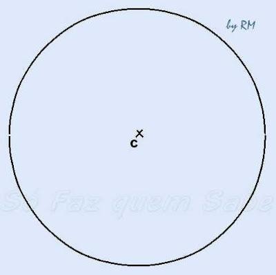 Circunferência para traçar um polígono estrelado de cinco pontas