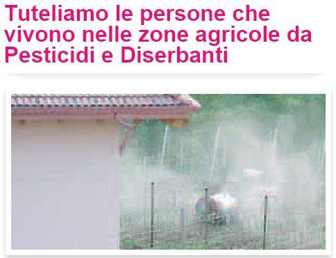 Tuteliamo le persone che vivono nelle zone agricole da Pesticidi e Diserbanti
