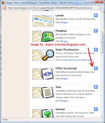 Widget Standar Blogger