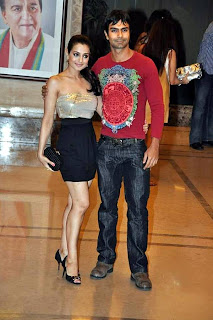 Amisha Patel at Actor Sanjay Dutt