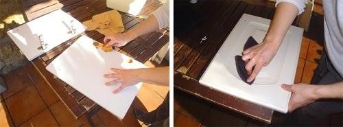 Como lacar un mueble o puerta de madera aprender hacer - Como limpiar puertas de madera ...