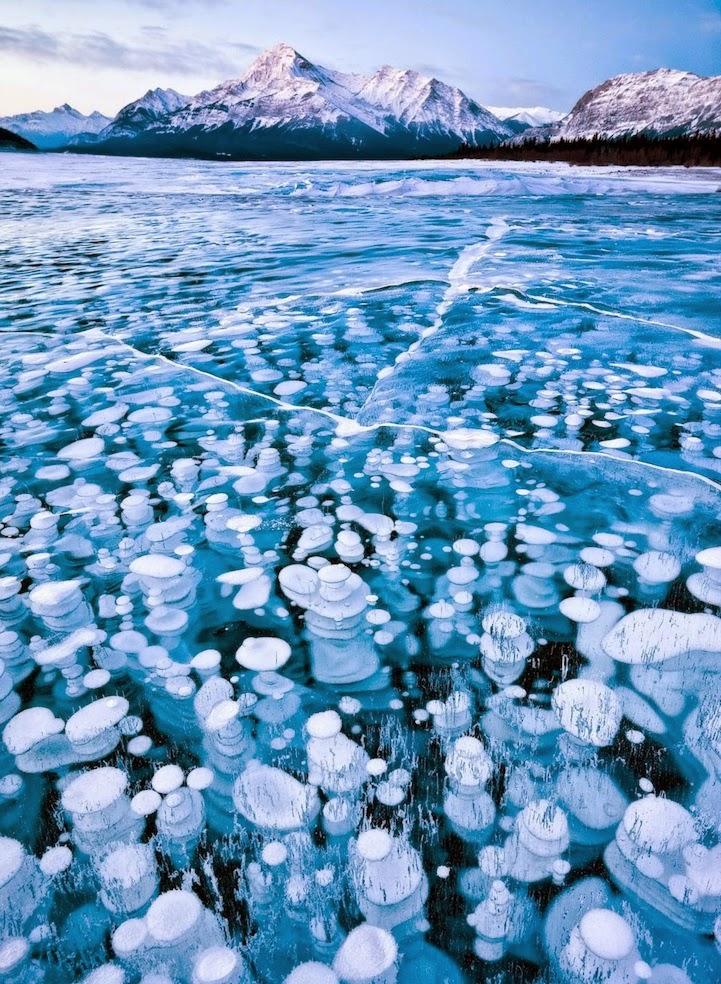 Abraham Lake in Alberta, Canada
