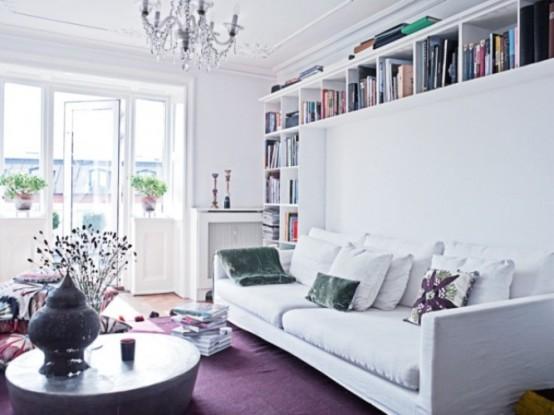 Habitat arquitetura interiores segundo item indispens vel para decora o da sua casa - Outstanding one room apartment decoration in bright white design ...