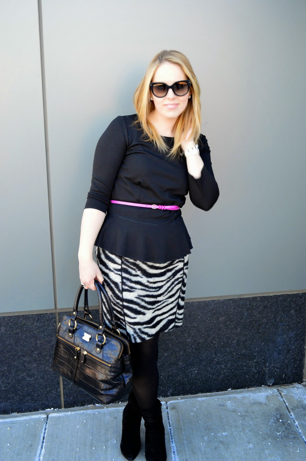 black-peplum-top-skirt