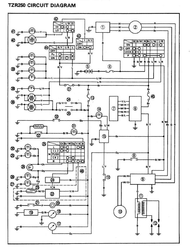 Yamaha DT 125 Tuning Blog - WR 200 - DT 230 Lanza: Schaltpläne