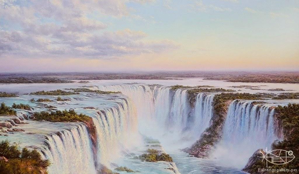 cuadros-de-paisajes-con-cascadas