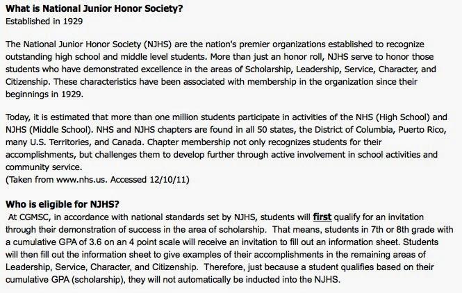 national junior honor society essay example