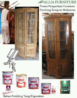 Proses & Bahan Furniture Semprot Melamine