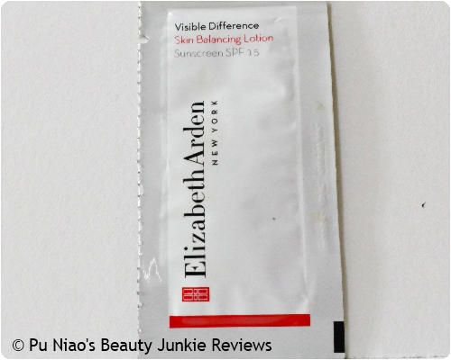 Elizabeth Arden Visible Difference Skin Balancing Lotion Sunscreen SPF15