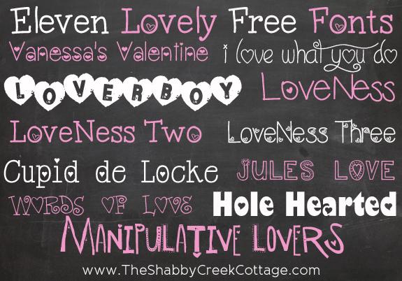 Free Lovely Valentine Fonts
