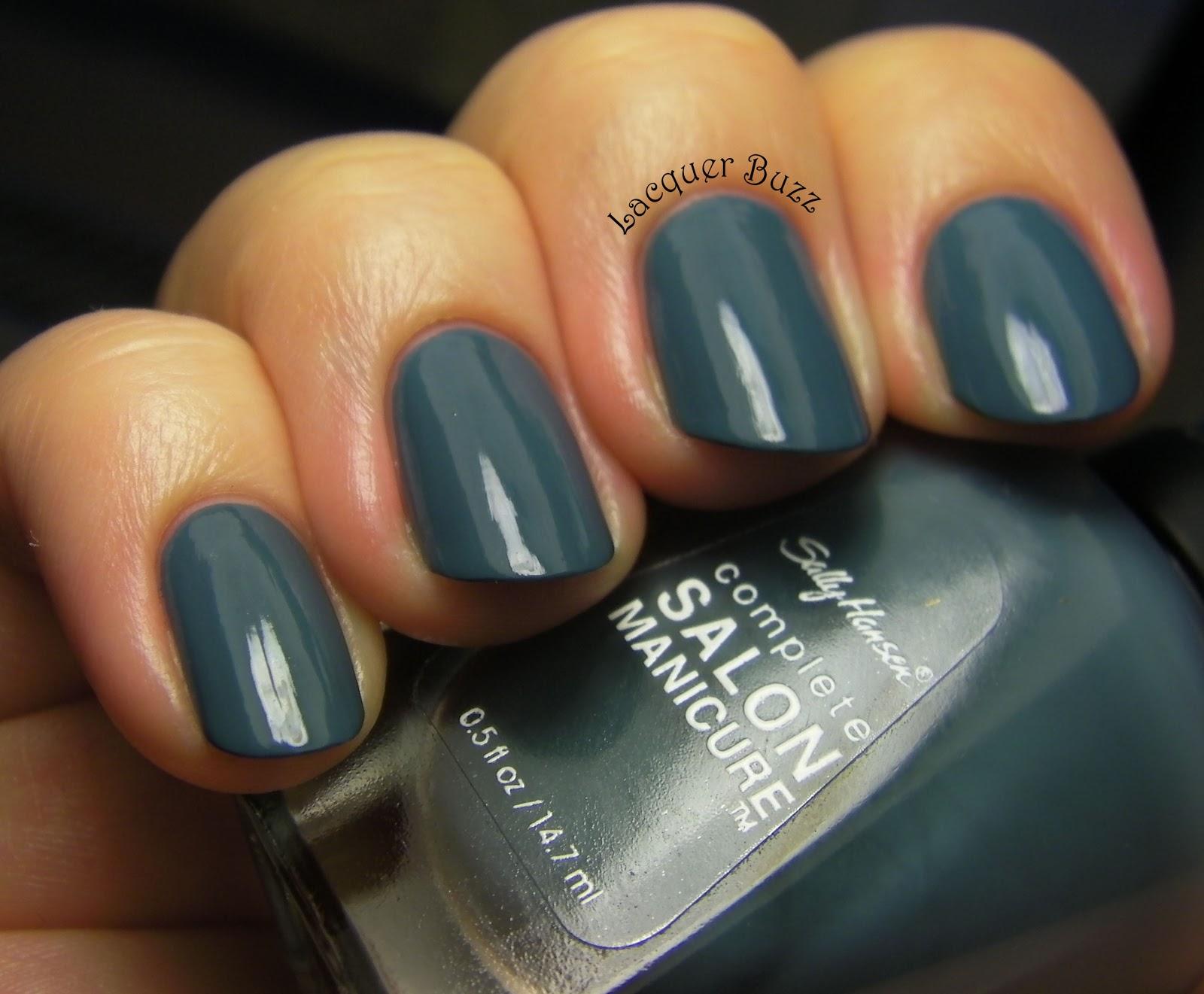 lacquer buzz: monday blues: sally hansen graygray and color