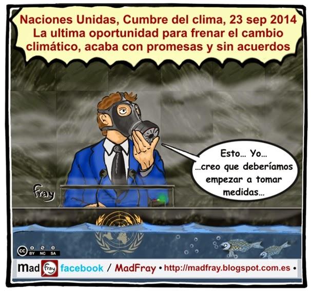 """Viñeta de Humor: La cumbre del clima 2014  se repite la historia: """"Promesas y sin acuerdos"""" Mad Fray"""