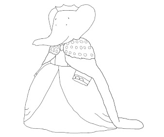 #7 Babar Coloring Page