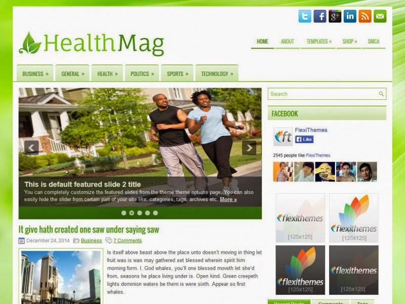 HealthMag - Free Wordpress Theme
