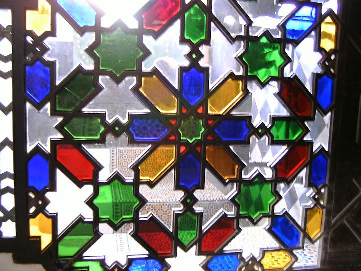 Una vidriera en la escuela de artesanía
