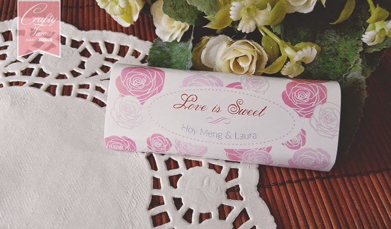 Love is sweet, wedding favour, chocolate bar, candy wrapper Kuala Lumpur, Ipoh, Singapore, Penang, Johor, Sabah, Sarawak, Malaysia