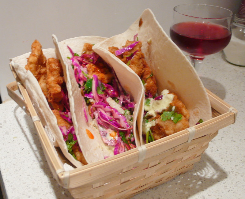Baja fried fish tacos recipe get your taco party started for Fried fish taco recipe