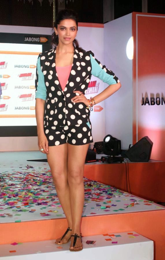 Deepika Padukone in Polka-dot Dress
