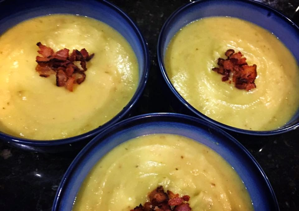Baked Potato and Leek Soup with Cheddar and Bacon (and Beer) recipes