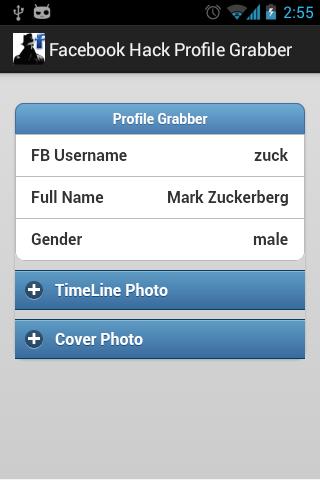 Facebook Hack PRO Profile Grab v1.0 APK