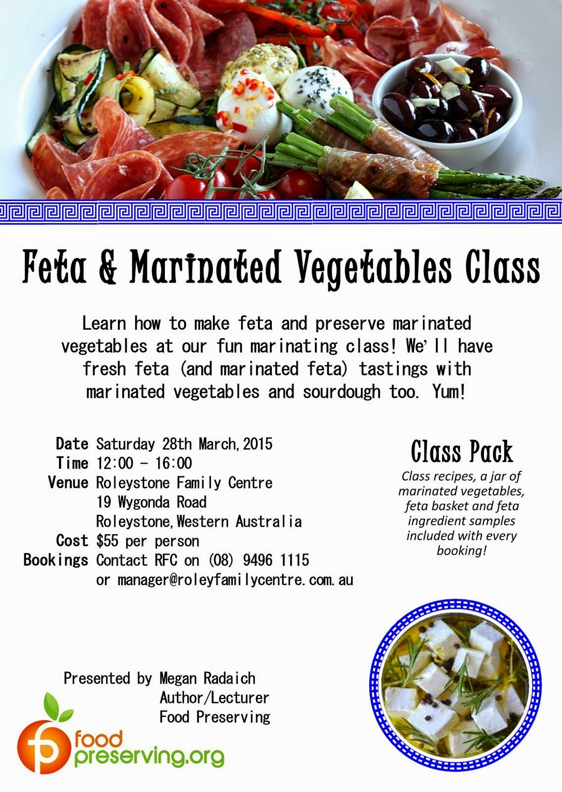 Mar 28 - Feta & Marinated Vegetables Class