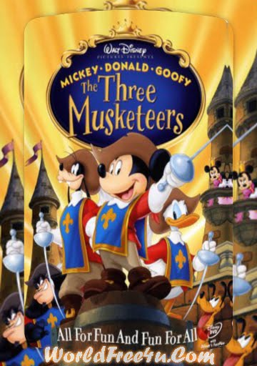 Poster Of Mickey, Donald, Goofy: The Three Musketeers (2004) Full Movie Hindi Dubbed Free Download Watch Online At worldfree4u.com