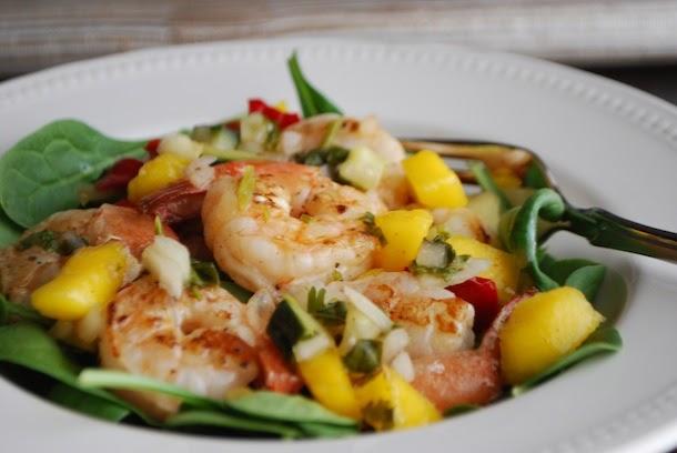 Pan Seared Shrimp With Mango Cucumber Amp Peppadew Salsa