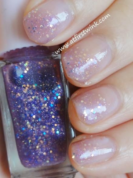 Etude House Juicy Cocktail gradation nails set #3 Love Violet step 2