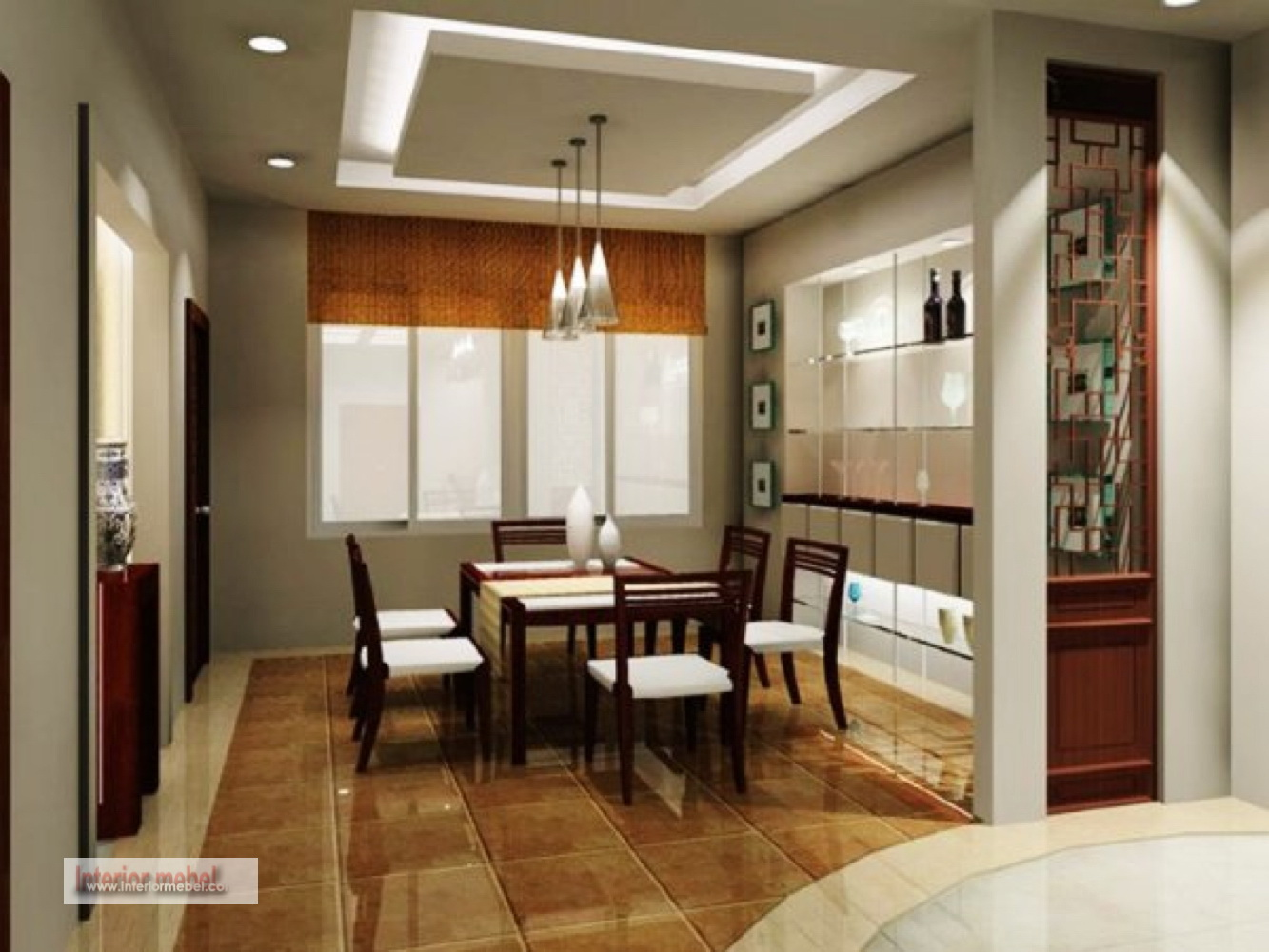 60 model plafon rumah minimalis for Dining room ceiling designs pictures