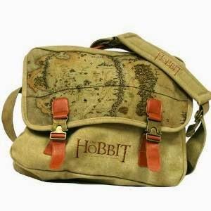 Bolsa bandolera de tela El Hobbit con mapa por 34,90€