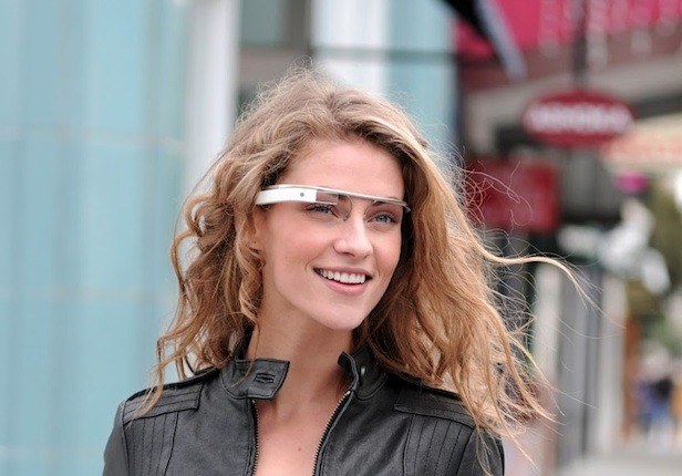 Sexy Girl In Google Glasses.