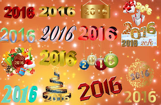 Happy New Year 2016 Text Style