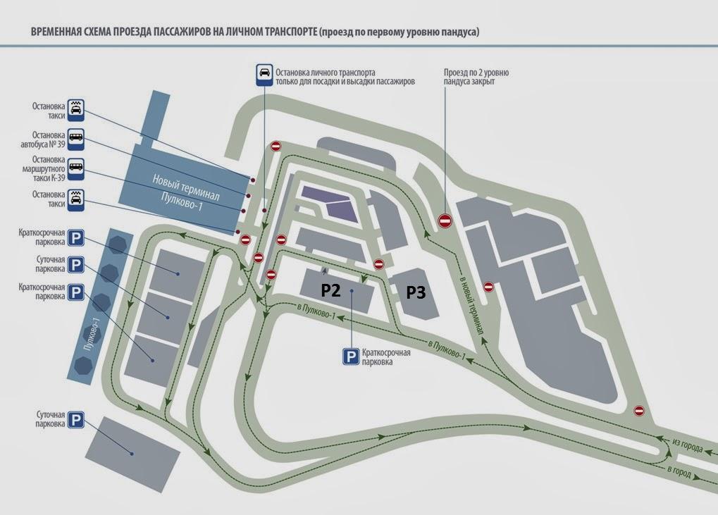 Схема движения транспортных