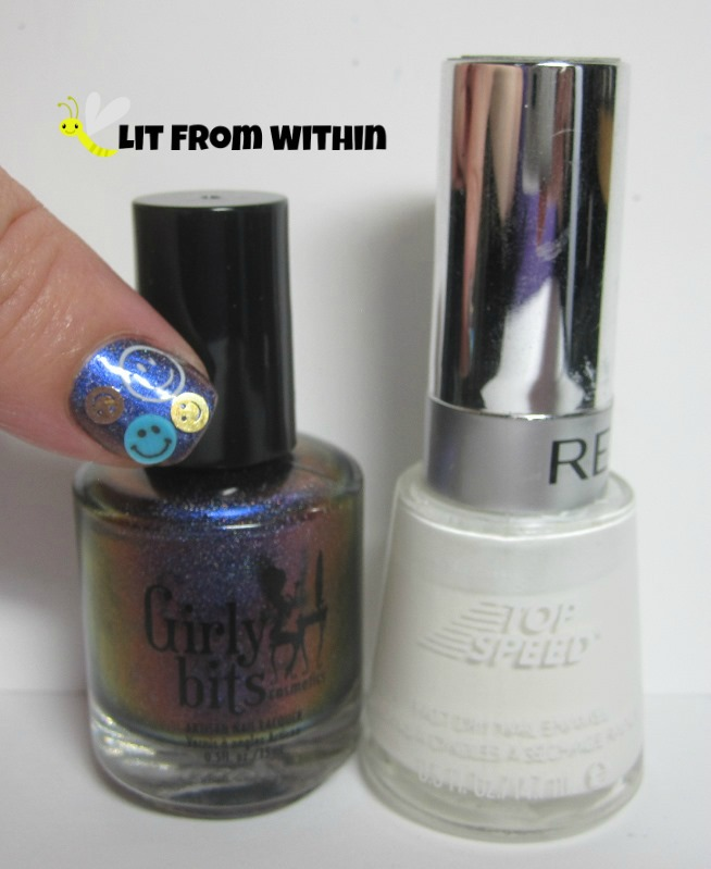 Bottle shot:   Girly Bits Belly Jeans, and Revlon Spirit
