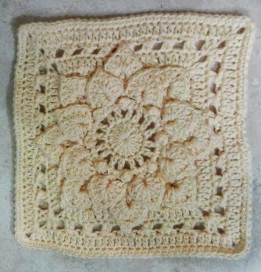 Lets Create Crochet Crocodile Flower Square