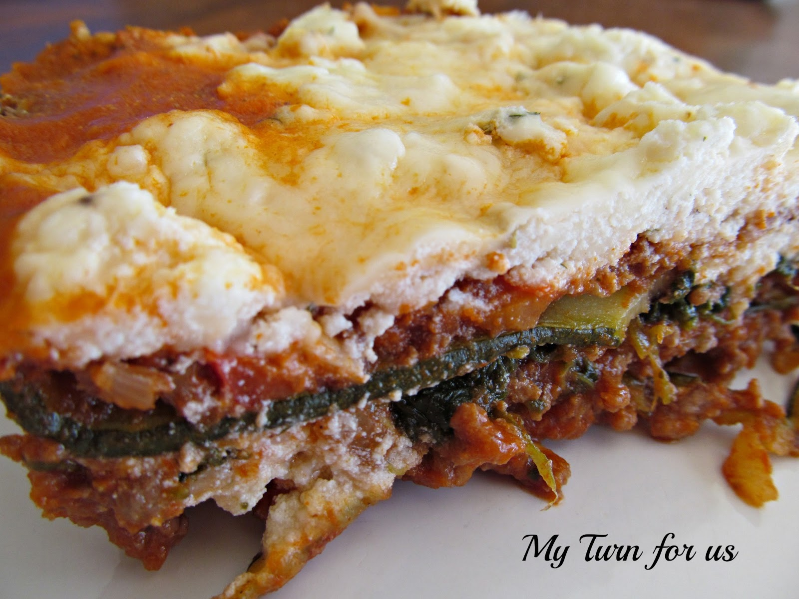Zucchini Lasagna recipe replaces the noodles with grilled zucchini ...