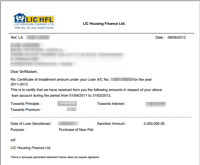 Lichfl generating home loan statements online step 5 generate repay certificates yadclub Gallery