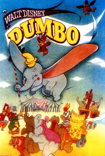 Cartel original de la película 'Dumbo' (1941), de Walt Disney Animation Studios, dirigida por Ben Sharpsteen. Revista Making Of. Cine