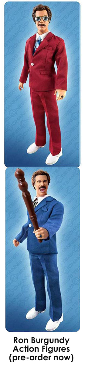 Ron Burgundy Action Figures!