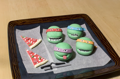 Ninja želve torta - Teenage mutant ninja turtles cake TMNT - junaki