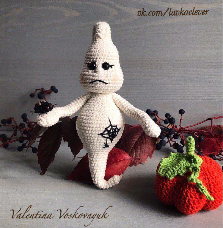Halloween ghost amigurumi crochet pattern