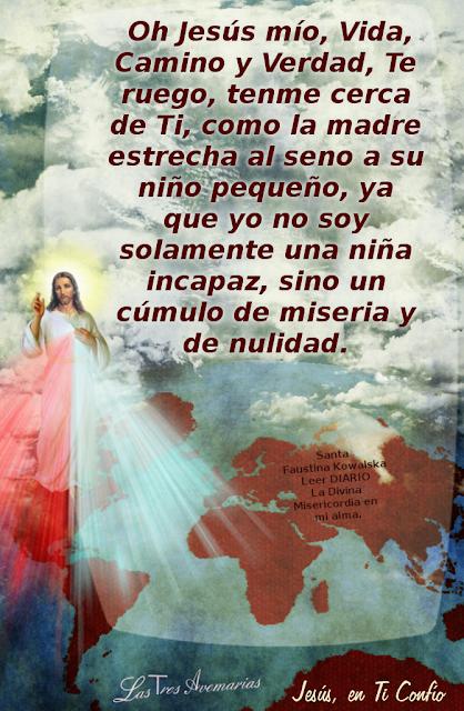 jesus en ti confio santa faustina roga por nostros