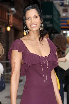 Padma Lakshmi Gold Chandelier Earrings