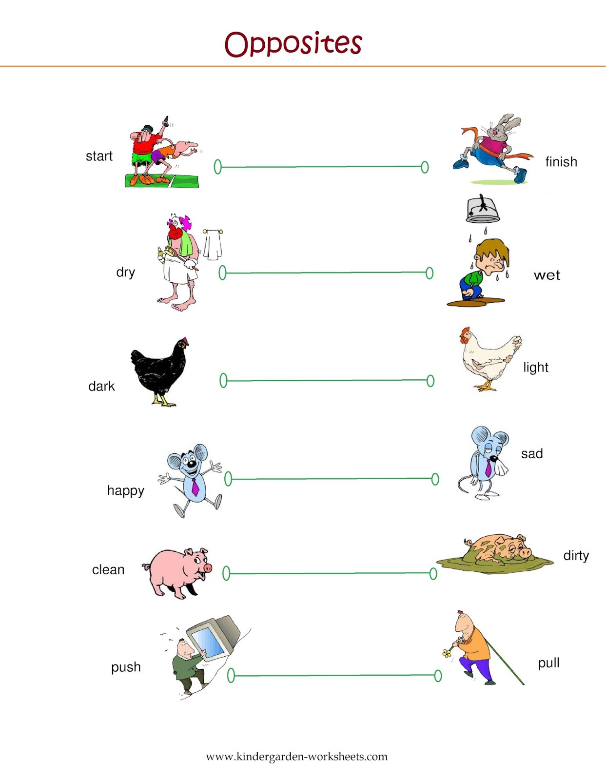 Opposite Words With Pictures Worksheets Scalien – Opposite Words Worksheets for Kindergarten